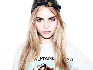Sweet Girl Cara Delevingne 300x225 - Cara Delevingne Red Lips Pics