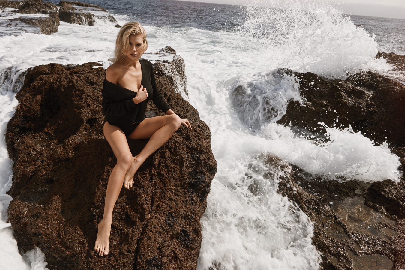Charlotte McKinney Modeling By The Sea - Charlotte McKinney Modeling By The Sea