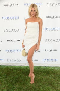 Charlotte McKinney White Gala Dress 200x300 - Charlotte McKinney Deep Revealing Dress