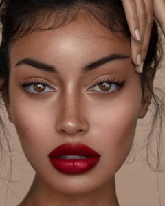 Cindy Kimberly Hot Red Lips