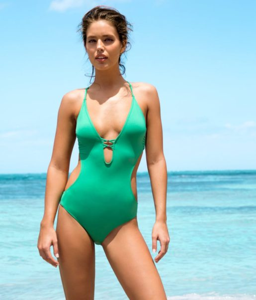 Emily DiDonato Hot Green Swimsuit