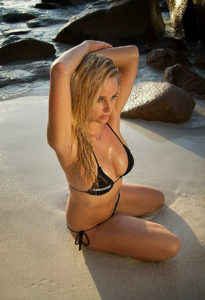 Genevieve Morton Hot Black Bikini 205x300 - Genevieve Morton Beauty Wallpaper