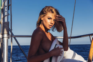 Hot Charlotte McKinney On The Yacht 300x200 - Hot Charlotte McKinney Pics