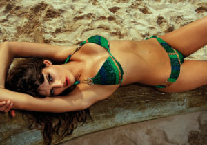 Isabeli Fontana Hot Green Bikini Pics 300x211 - Hot Brunette Model Isabeli Fontana