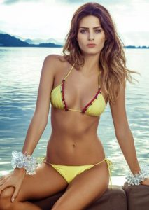 Isabeli Fontana Hot Yellow Bikini 213x300 - Hot Brunette Model Isabeli Fontana