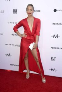 Jasmine Sanders Hot Red Dress 204x300 - Jasmine Sanders Curly Hair