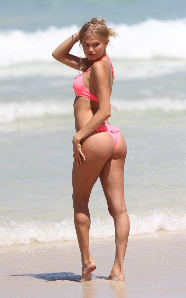 Josephine Skriver Hot Pink Bikini 639x1024 - Josephine Skriver Net Worth, Pics, Wallpapers, Career and Biography