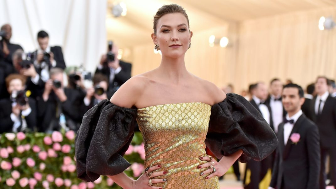 Karlie Kloss Yellow Gala Dress