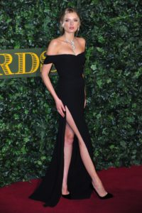 Lily Donaldson Deep Slash Dress 200x300 - Lily Donaldson Premier Pics