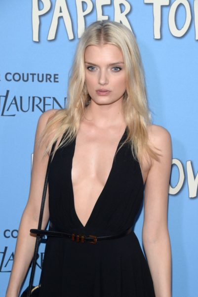 Lily Donaldson Hot Revealing Dress