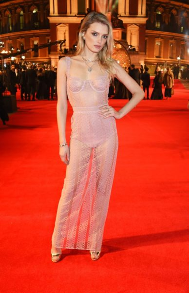 Lily Donaldson On Red Carpet