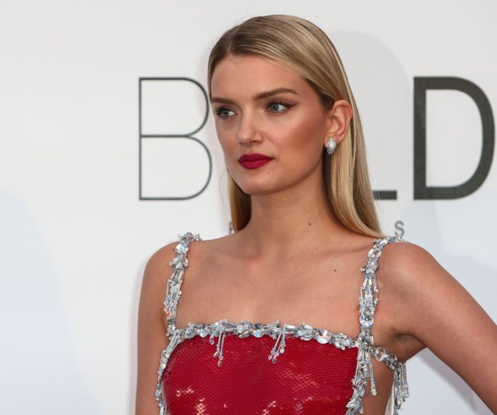 Lily Donaldson Red Lips