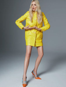 Lily Donaldson Yellow Dress 226x300 - Cool Lily Donaldson