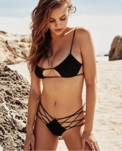 Olivia Brower Hot Black Bikini 242x300 - Supermodel Olivia Brower