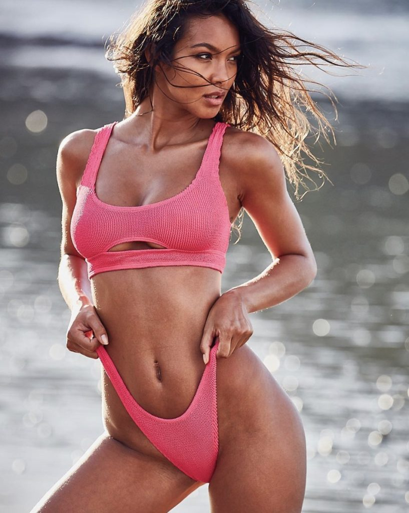 Pink Bikini Modeling Lais Ribeiro 817x1024 - Lais Ribeiro Net Worth, Pics, Wallpapers, Career and Biography
