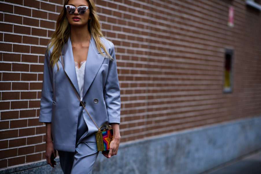 Romee Strijd Milan Fashion Week