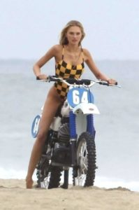 Romee Strijd On A Bike 199x300 - Romee Strijd Cannes Film Festival