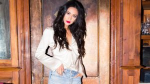 Shay Mitchell Hot Red Lips 300x169 - Shay Mitchell Outdoors