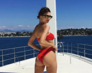 Taylor Hill Bikini Pose On Yacht 300x239 - Super Hot Top Model Taylor Hill