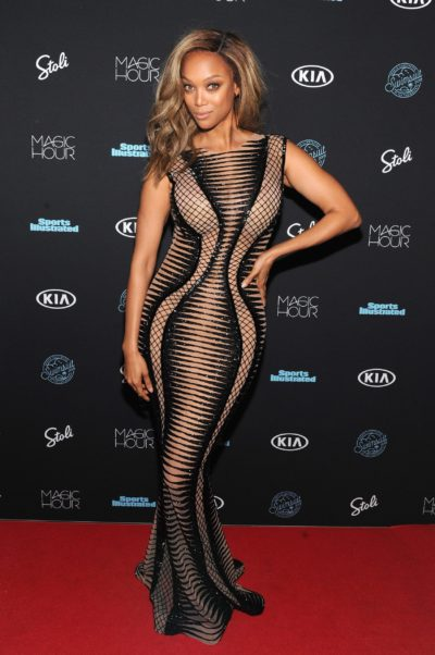 Tyra Banks Red Carpet Arrivals Pics