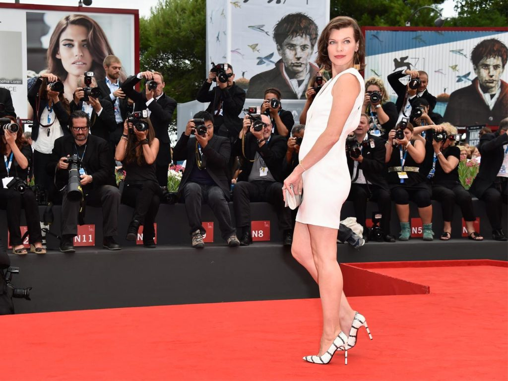 Milla Jovovich Red Carpet 1024x768 - Milla Jovovich Net Worth, Pics, Wallpapers, Career and Biography
