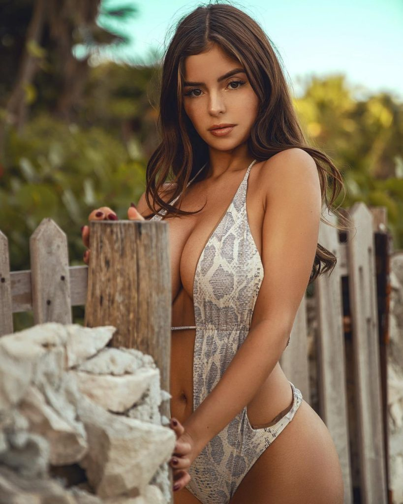Demi Rose Hot Snakeskin Swimsuit Pics 819x1024 - Demi Rose Net Worth, Pics, Wallpapers, Career and Biography
