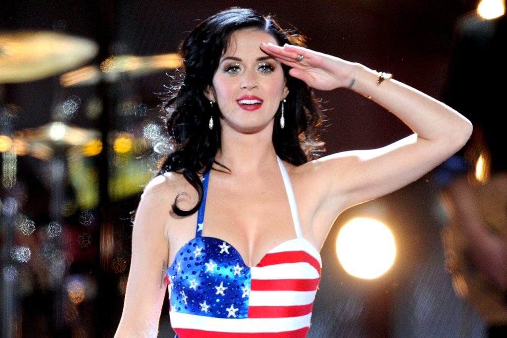 Katy Perry American Flag Bra 1024x683 - Katy Perry Net Worth, Pics, Wallpapers, Career and Biography