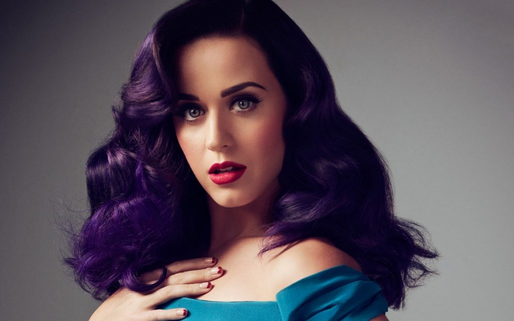 Katy Perry Purple Hairdesign Wallpaper 1024x640 - Katy Perry Net Worth, Pics, Wallpapers, Career and Biography