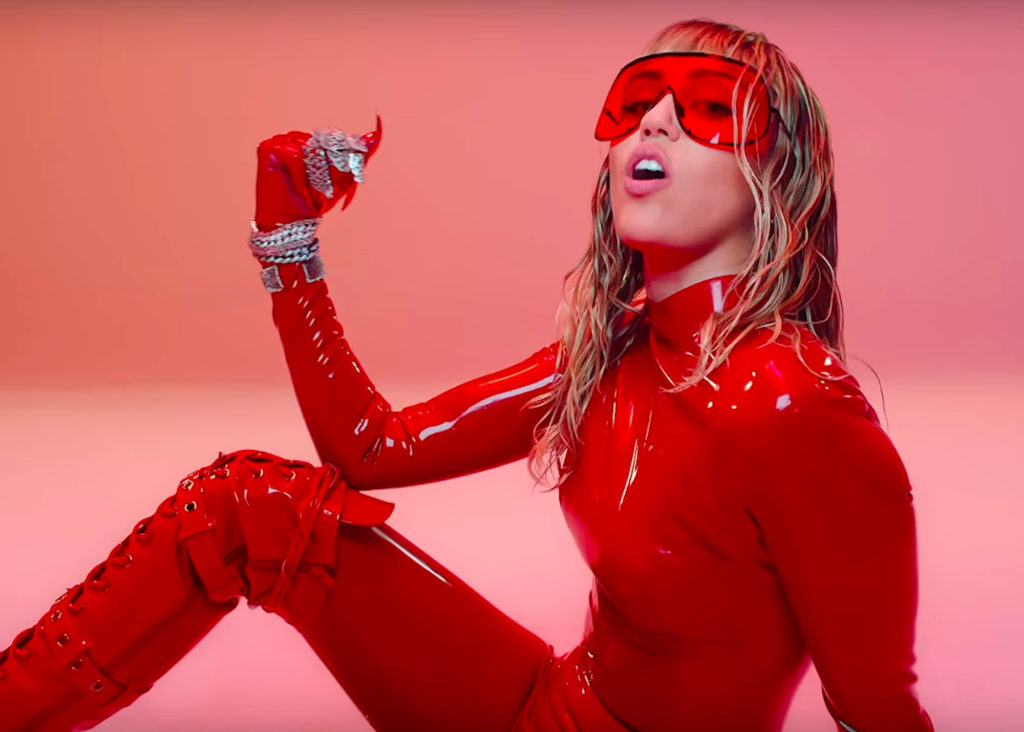 Miley Cyrus Red Latex Dress 1024x732 - Miley Cyrus Net Worth, Pics, Wallpapers, Career and Biography
