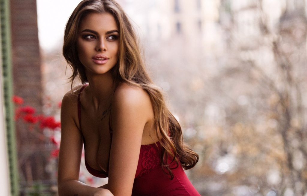 Viktoria Odintcova Red Lingerie Wallpapers 1024x653 - Viktoria Odintcova Net Worth, Pics, Wallpapers, Career and Biograph