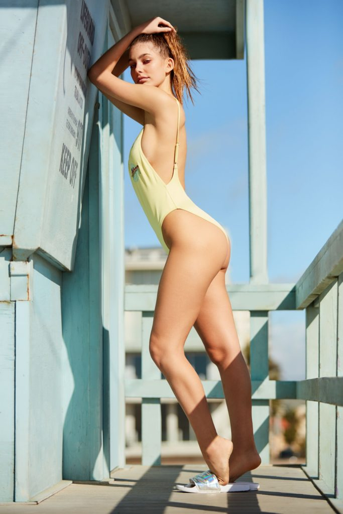 Camila Morrone Hot Yellow Swimsuit Pose 683x1024 - Camila Morrone Net Worth, Pics, Wallpapers, Career and Biography