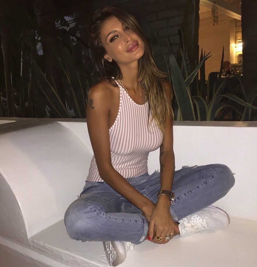 Christina Buccino Jeans Couch Pose - Christina Buccino Jeans Couch Pose