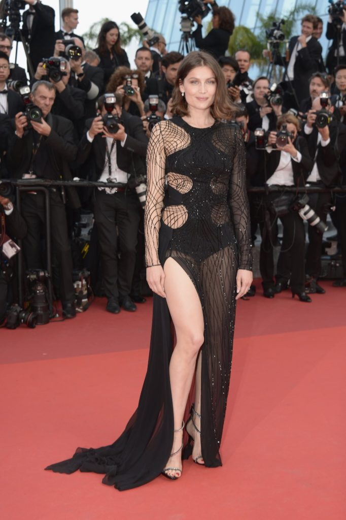 Laetitia Casta Hot Black Gala Dress 682x1024 - Laetitia Casta Net Worth, Pics, Wallpapers, Career and Biography