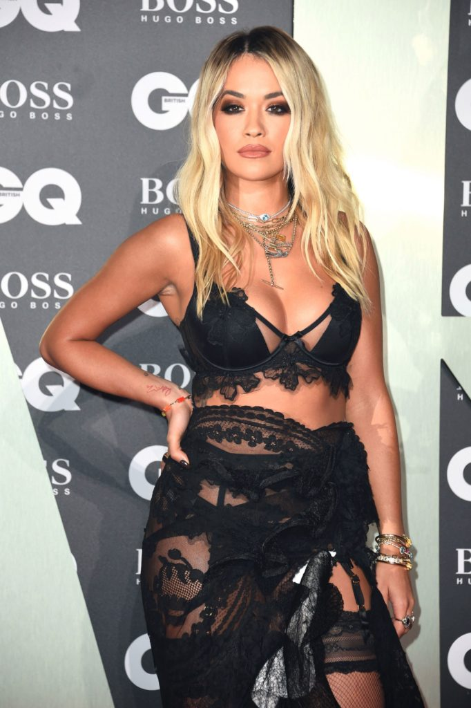 Rita Ora Hot Black Garter Pics 682x1024 - Rita Ora Net Worth, Pics, Wallpapers, Career and Biography