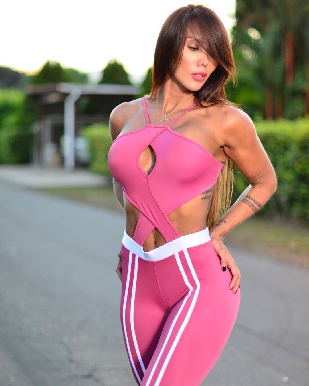 Sonia Isaza Hot Pink Sports Wear - Sonia Isaza Hot Pink Sports Wear