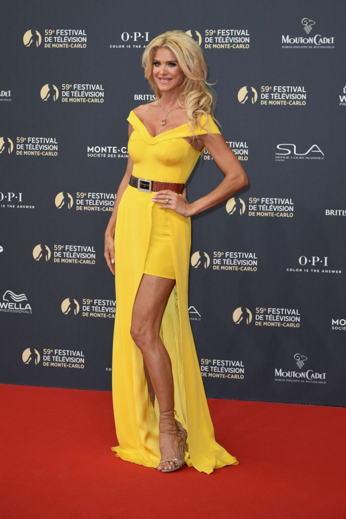 Victoria Silvstedt Monte Carlo Red Carpet 683x1024 - Victoria Silvstedt Net Worth, Pics, Wallpapers, Career and Biograph