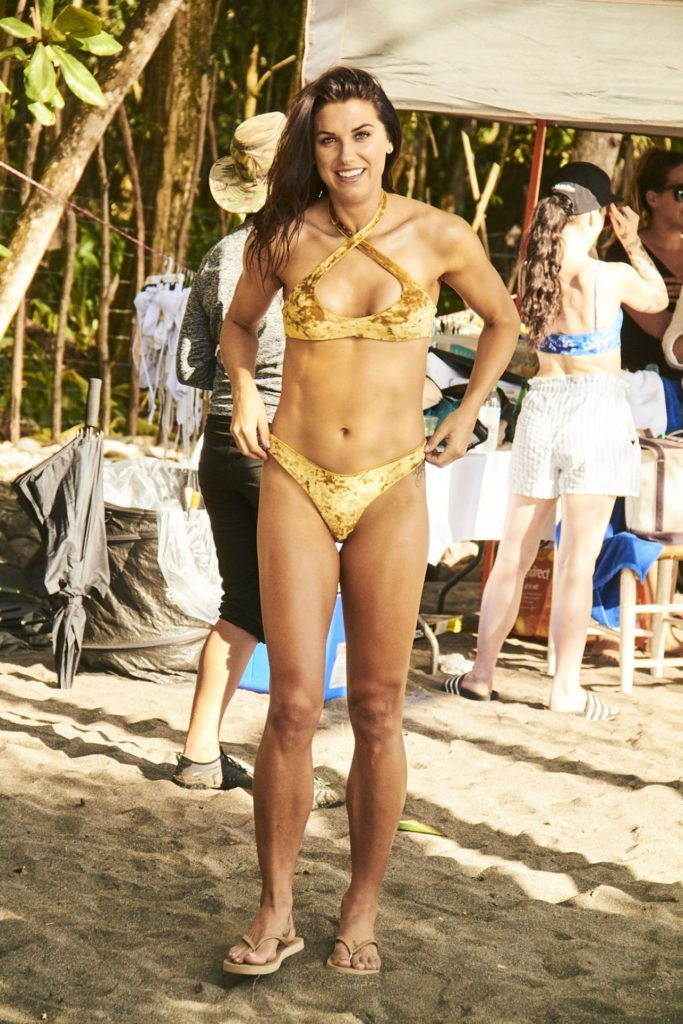 Alex Morgan Hot Yellow Bikini Pics 683x1024 - Alex Morgan Net Worth, Pics, Wallpapers, Career and Biography