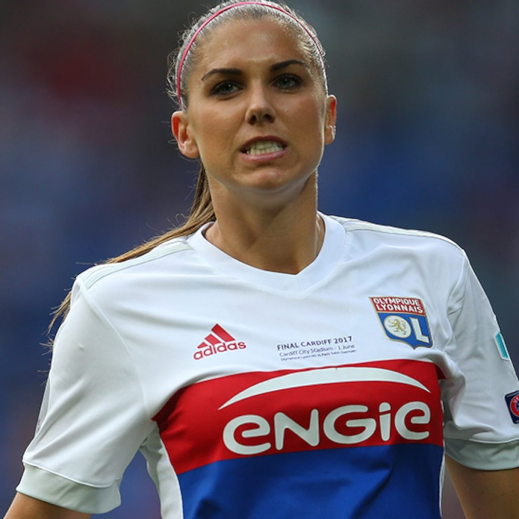 Alex Morgan Lyon Uniform Pics 1024x1024 - Alex Morgan Net Worth, Pics, Wallpapers, Career and Biography