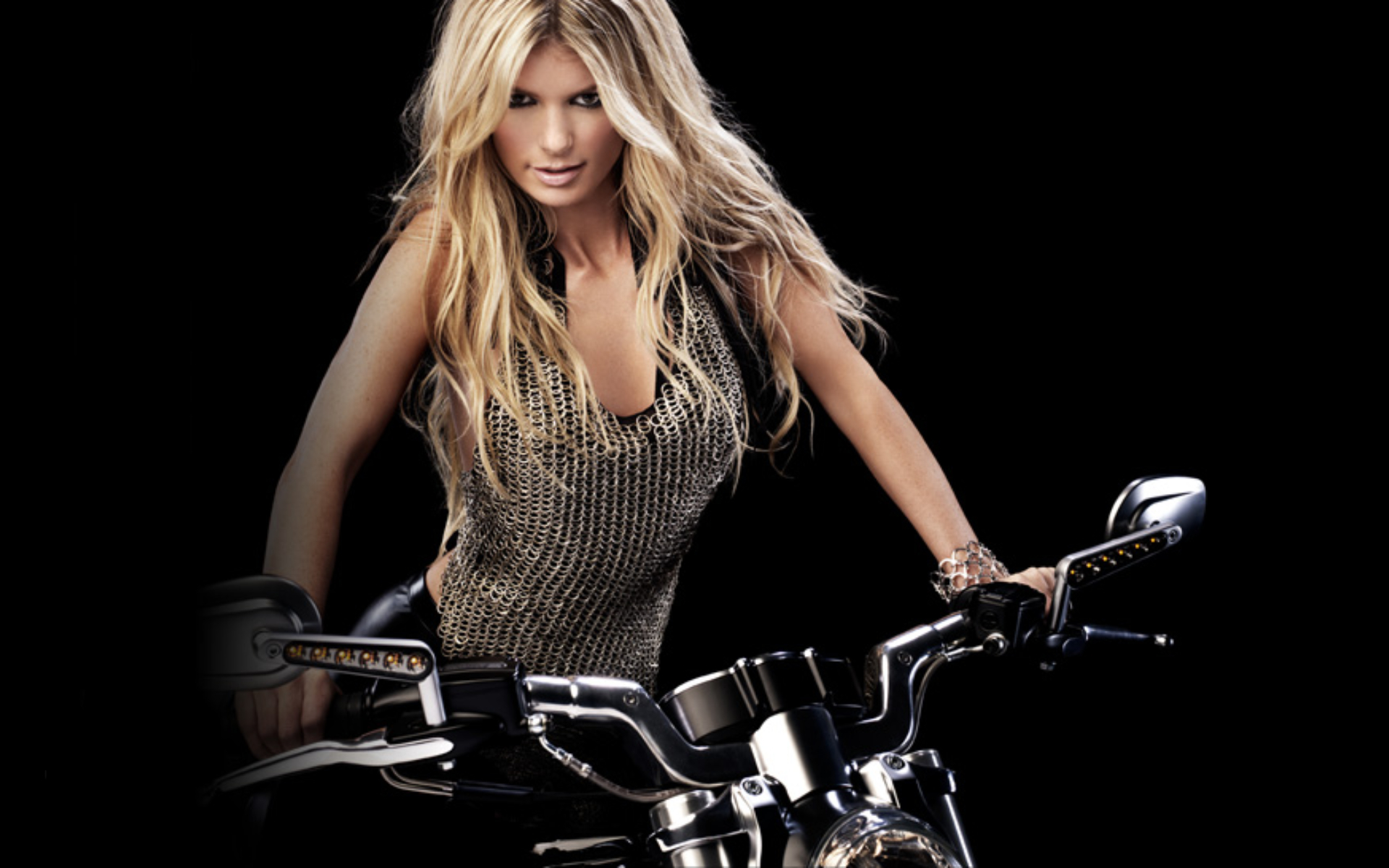 Biker Wallpaper Of Marisa Miller - Biker Wallpaper Of Marisa Miller