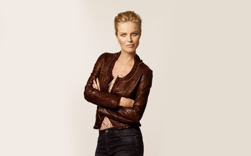 Eva Herzigova Brown Jacket Wallpapers 1024x640 - Eva Herzigova Brown Jacket Wallpapers
