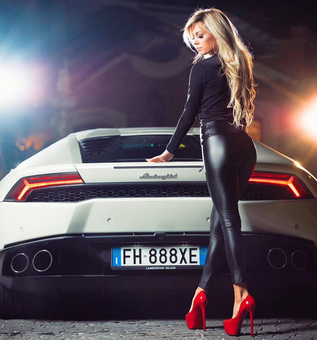 Ludovica Pagani Car Modeling In High Heels - Ludovica Pagani Car Modeling In High Heels