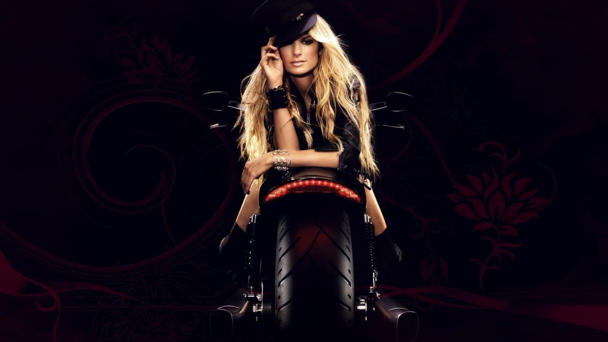 Marisa Miller Hot Biker Wallpapers - Marisa Miller Hot Biker Wallpapers