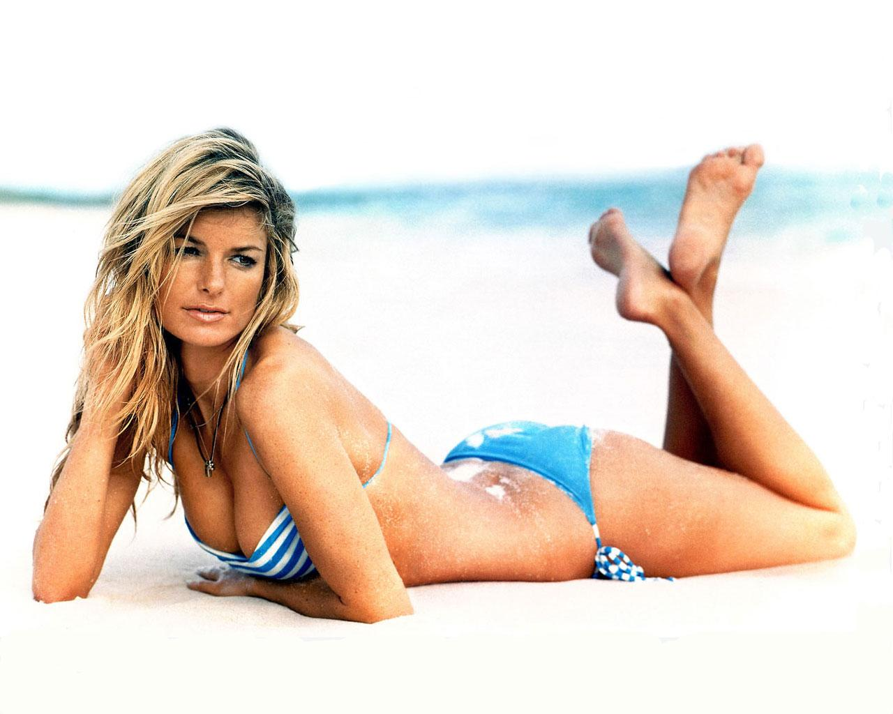 Marisa Miller Hot Blue Bikini On Sands - Marisa Miller Hot Blue Bikini On Sands