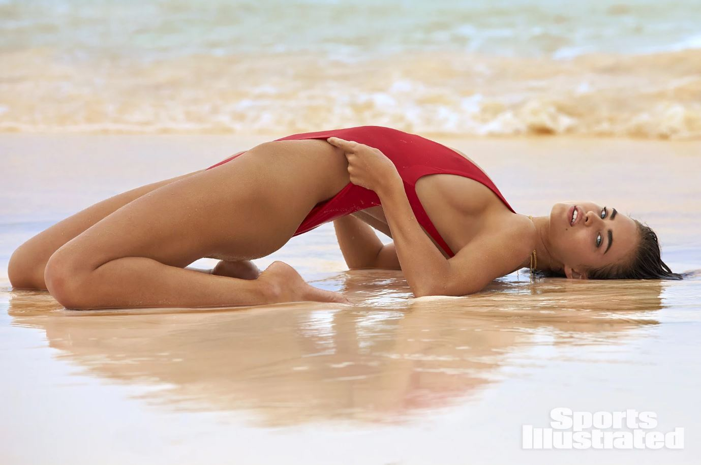 Robin Holzken Hot Red Swimsuit Pose Wallpapers - Robin Holzken Hot Red Swimsuit Pose Wallpapers