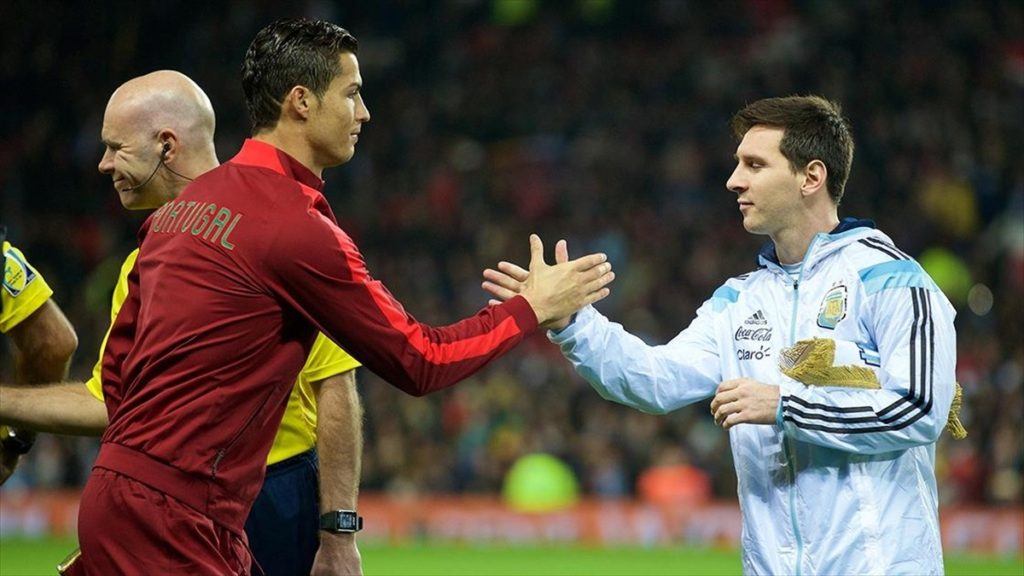 Cristiano Ronaldo Against Messi Wallpaper 1024x576 - Cristiano Ronaldo Against Messi Wallpaper