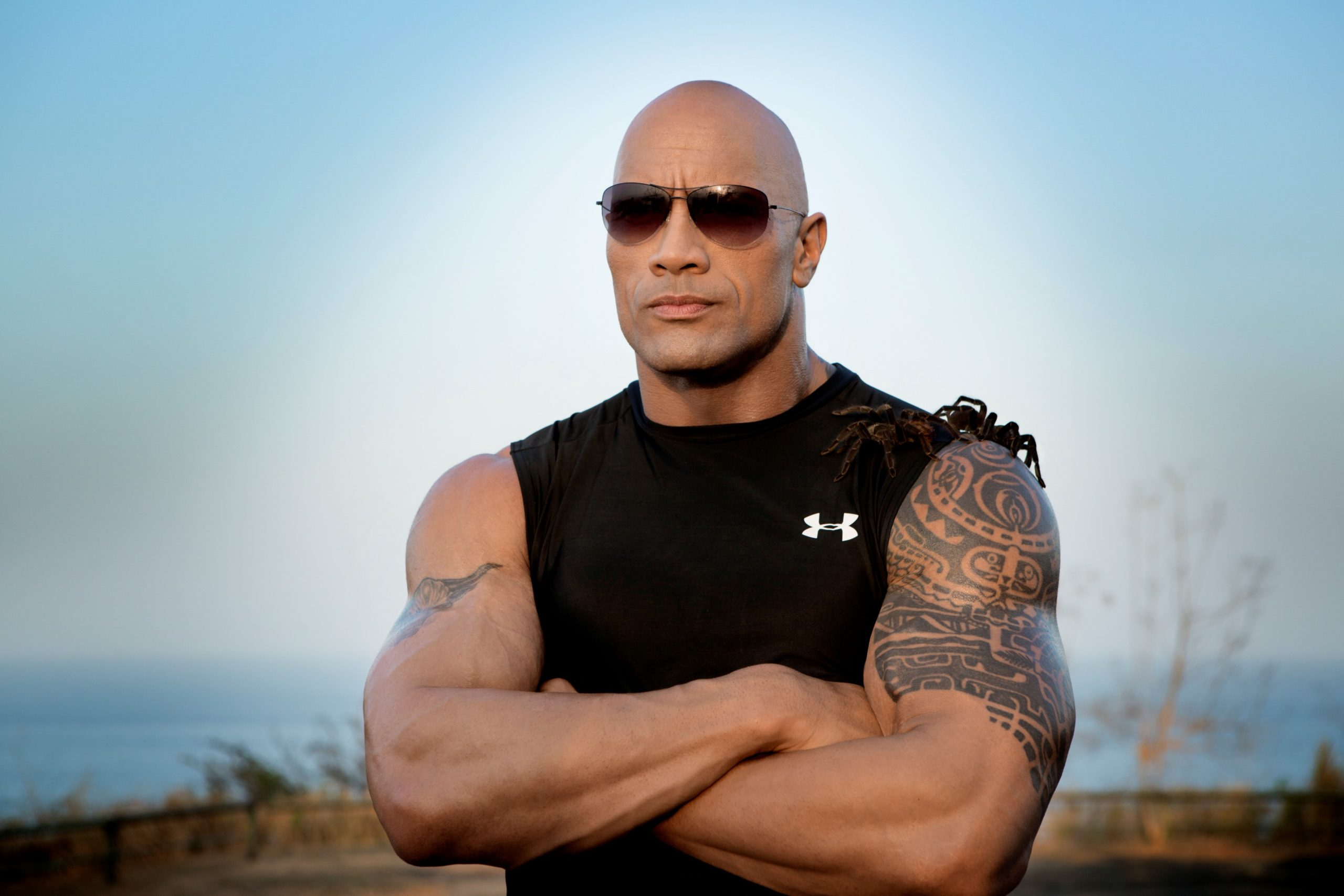 Dwayne Johnson Outside Pose scaled - Dwayne Johnson Net Worth, Pics, Wallpapers, Career and Biography