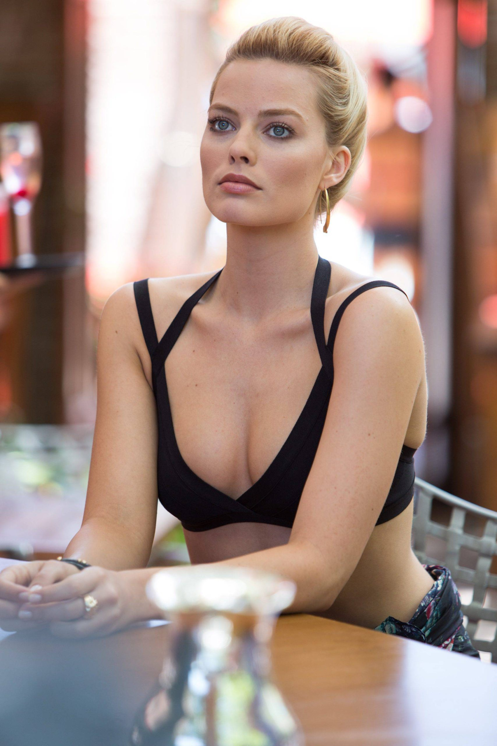 Margot Robbie Hot Bra Pics scaled - Margot Robbie Net Worth, Pics, Wallpapers, Career and Biography