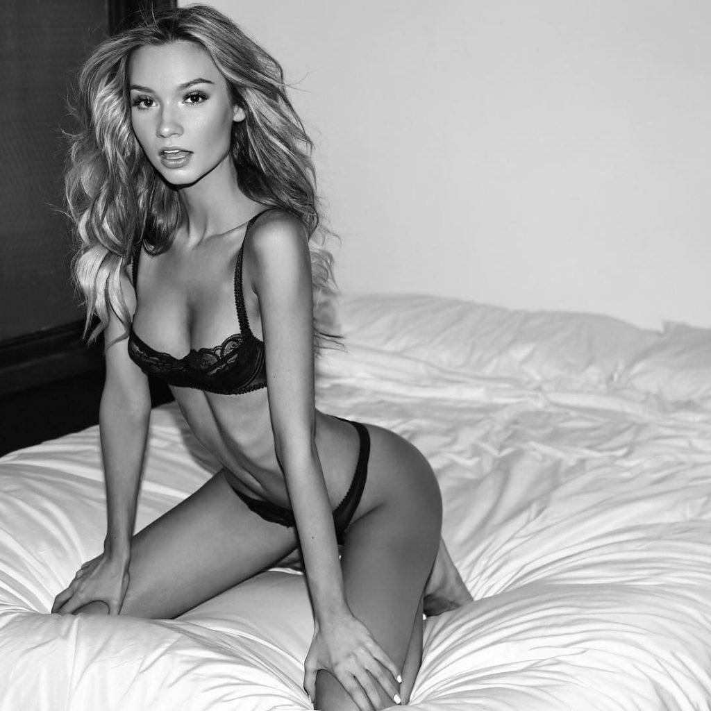 Alexa Collins Hot Black Lingerie Bed Pose 1024x1024 - Alexa Collins Net Worth, Pics, Wallpapers, Career and Biography