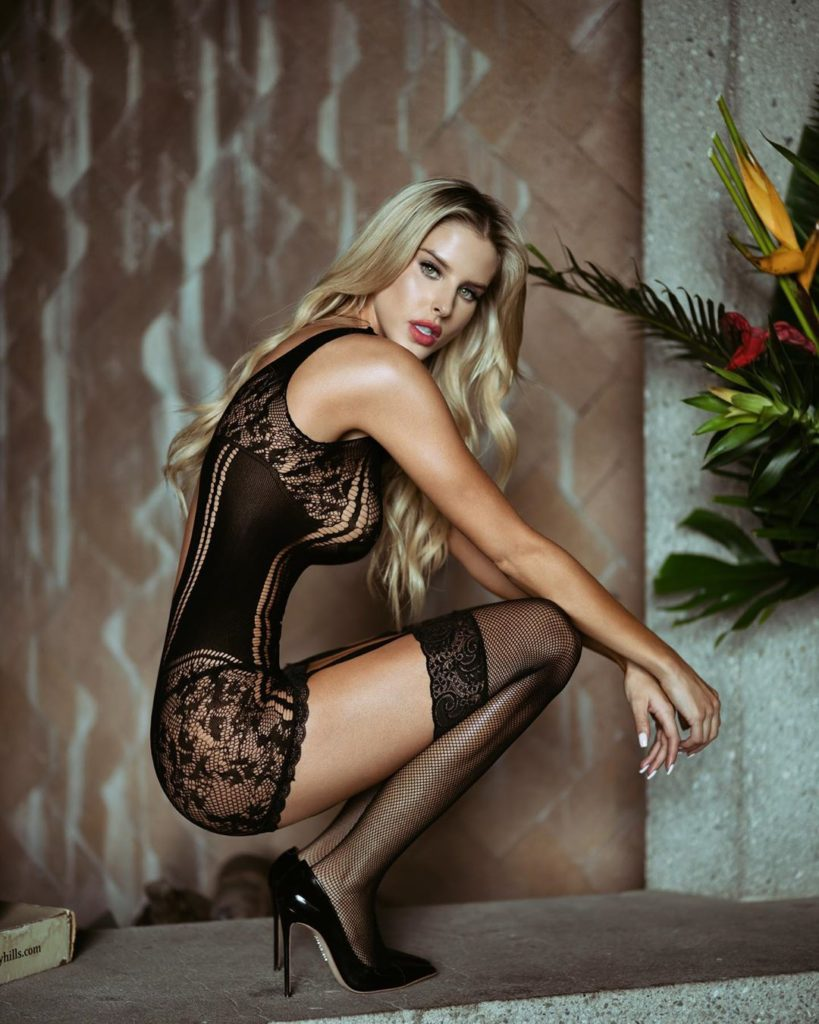 Brennah Black Hot Black Lingerie Stockings 819x1024 - Brennah Black Net Worth, Pics, Wallpapers, Career and Biography