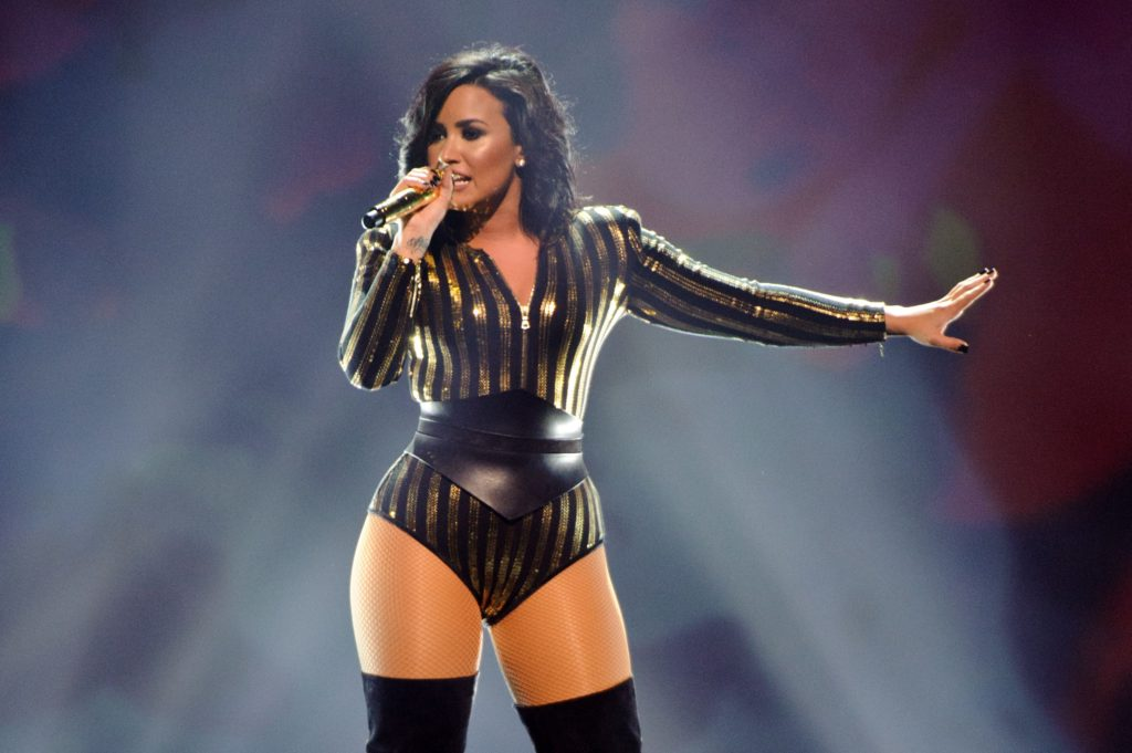 Demi Lovato Hot Concert Costume 1024x681 - Demi Lovato Net Worth, Pics, Wallpapers, Career and Biography